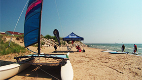 EOS surfboard, SUP and sailboat rentals at Blue Harbor Resort