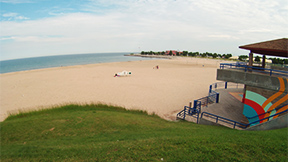 North Beach in Sheboygan, Wisconsin